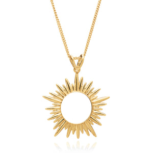 Electric Goddess Medium Sun Necklace - Gold