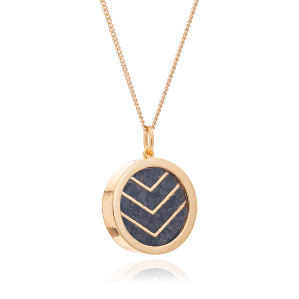 Protection Birthstone chevron necklace gold Rachel Jackson London