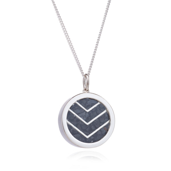 Protection Birthstone chevron necklace silver Rachel Jackson London