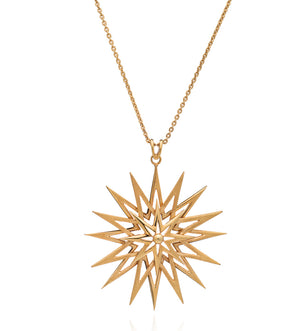 Rockstar Long Statement Necklace - Gold