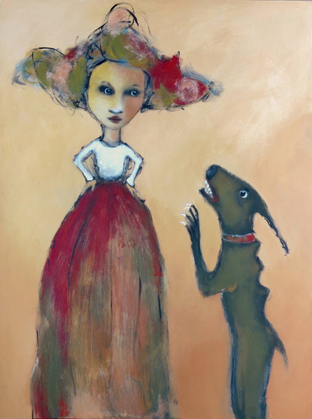 "SOLD  ""Mary Confronts Her Demanding Little Fears"""