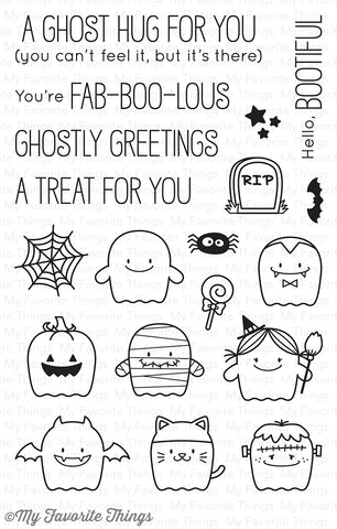 BB Fab-BOO-lous Friends Clear Stamps