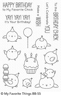 BB Birthday Chicks Clear Stamps