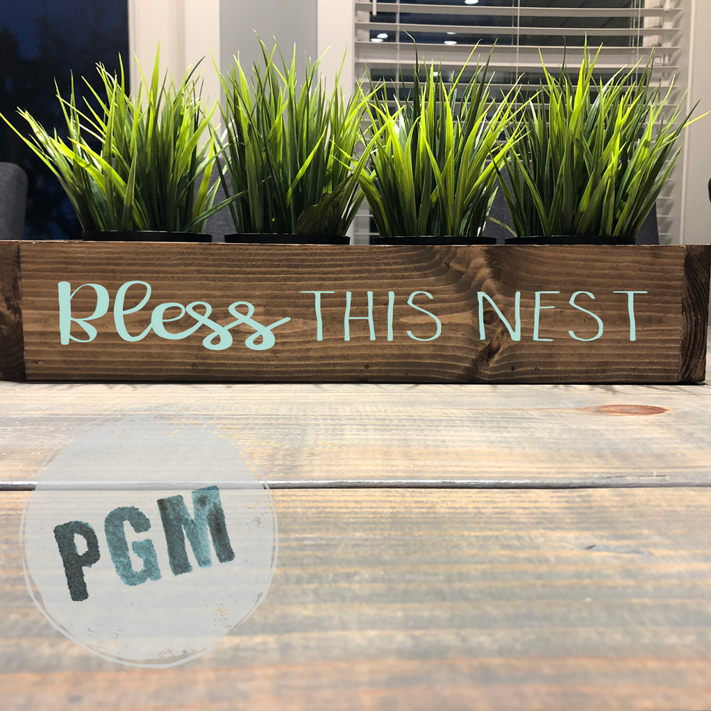 Bless this Nest: WOOD BOX - Paisley Grace Designs