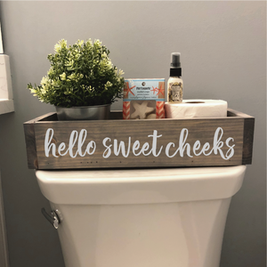 HELLO SWEET CHEEKS: WOOD BOX - Paisley Grace Designs