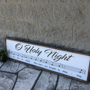 O Holy Night: SHEET MUSIC DESIGN - Paisley Grace Designs