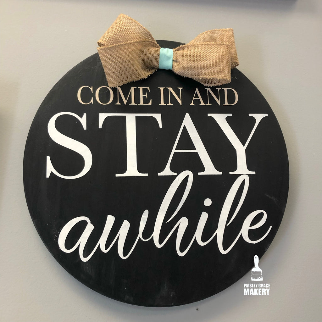 Come In And Stay Awhile: ROUND DESIGN - Paisley Grace Designs
