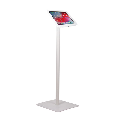 "kiosks - Elevate II Floor Stand Kiosk for iPad Pro 12.9"" 3rd Gen (White) - The Joy Factory"