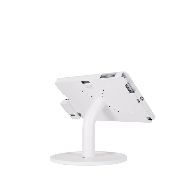 kiosks - Elevate II POS Countertop Kiosk with MagTek eDynamo Bracket for Surface Pro 6 | 5 | 4 | 3 (White) - The Joy Factory