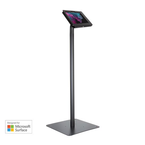 kiosks - Elevate II Floor Stand Kiosk for Surface Go (Black) - The Joy Factory