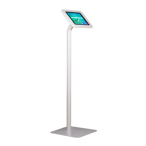 kiosks - Elevate II Floor Stand Kiosk for Galaxy Tab S3 | S2 9.7 (White) - The Joy Factory