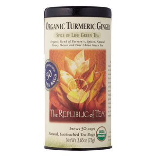 Organic Turmeric Ginger Green - 50 Tea Bags