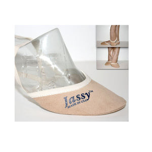 Jassy Toe Shoes/ Pirouette Shoes, Micro-Suede, Tan, Style: TAN-MS02BL