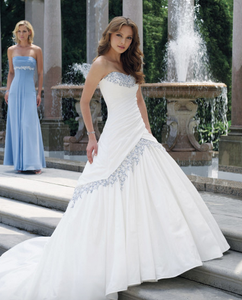 taffeta wedding dress