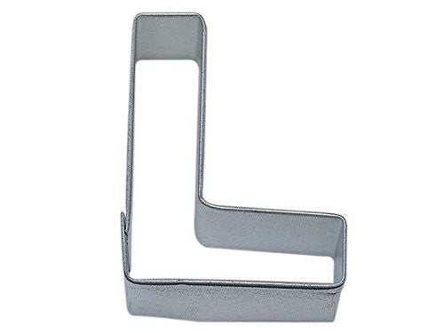 "Letter L Metal Cookie Cutter 3"" H"