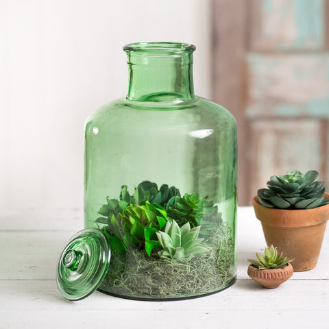 Large Hungarian 100% Recycled Glass Pickle Jar