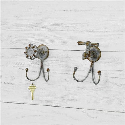 Set of Two Spigot Shaped Double Hooks
