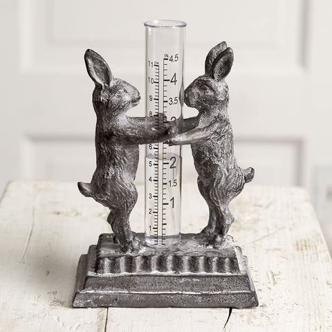 Bunny Buddies Rabbits Surface Rain Gauge