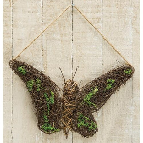 "Angel Vine and Moss Accents 10"" W Hanging Butterfly"