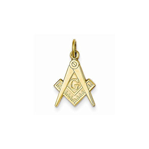 14k Masonic Charm, Best Quality Free Gift Box Satisfaction Guaranteed - shopvistar