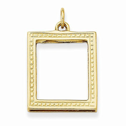 14k Picture Frame Pendant, Best Quality Free Gift Box Satisfaction Guaranteed - shopvistar