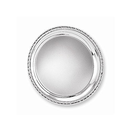 Silver-plated 10 Round Fancy Edge Tray - shopvistar