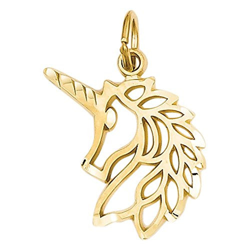 14k Unicorns Head Pendant, Best Quality Free Gift Box Satisfaction Guaranteed - shopvistar