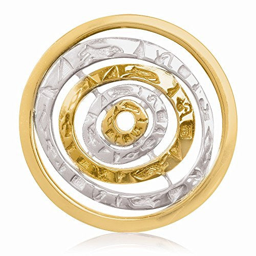 Nikki Lissoni Silver-tone Brass 33mm Egyptian Goddess Coin - shopvistar