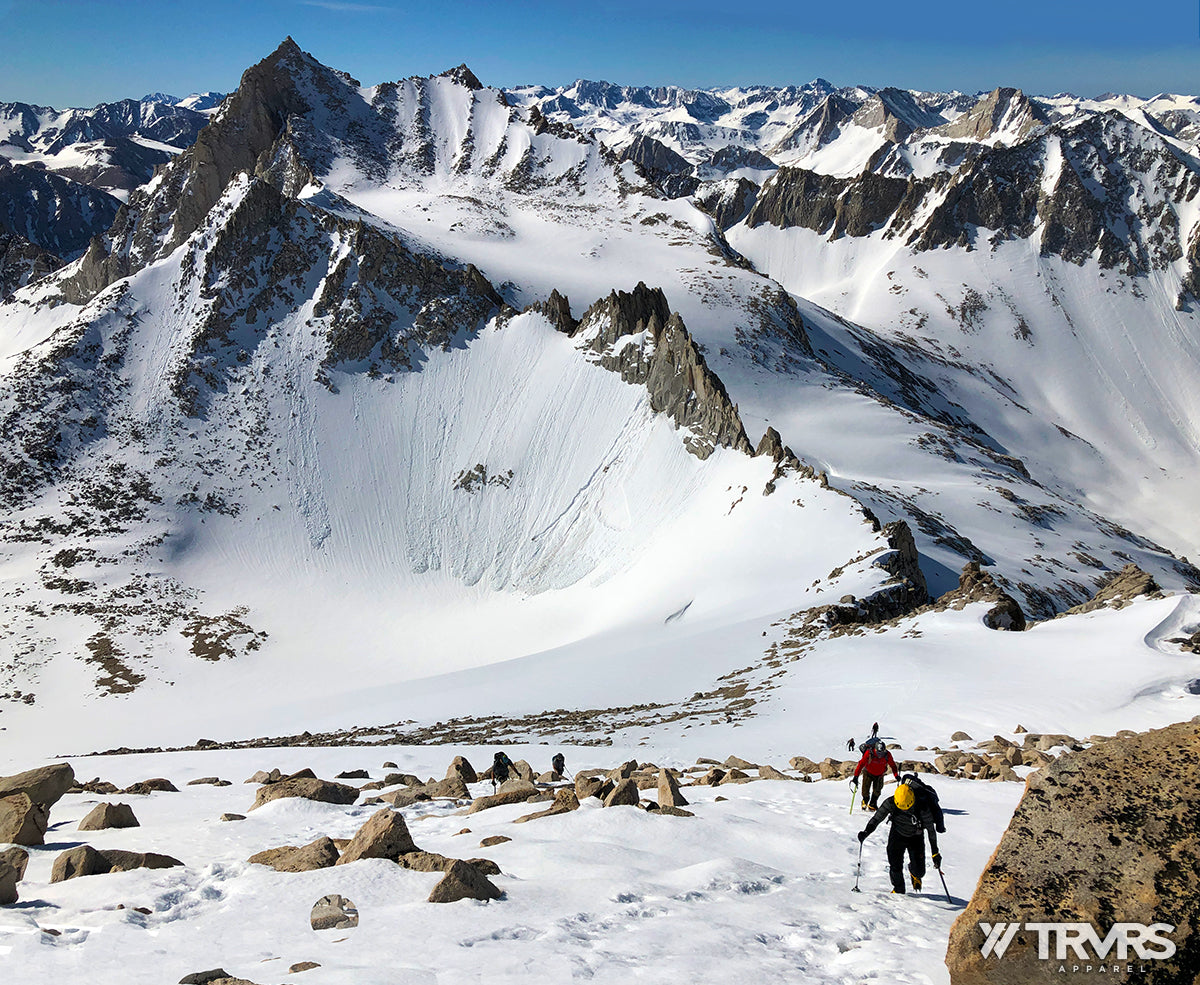 Approaching Summit of Mount Dade via Hourglass Coulior - Inyo National Forest - Sierra Nevada Mountains | TRVRS Apparel