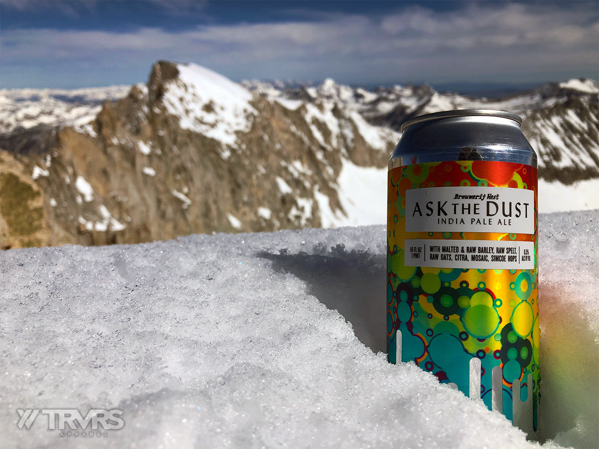 Summit Beer On Mount Dade - Little Lakes Valley - Inyo National Forest - Sierra Nevada Mountains | TRVRS Apparel