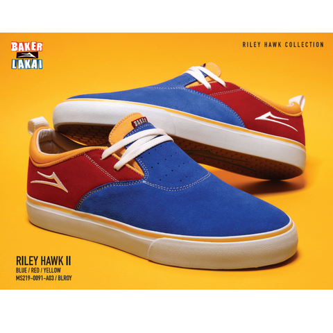 LAKAI  X BAKER RILEY 2 BLUE/RED/YELLOW