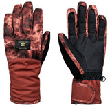 DC WOMEN'S FRANCHISE SNOW GLOVES BURNT HENNA
