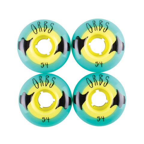 ORBS POLTERGEISTS 54MM TEAL/YELLOW