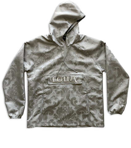 Silver damask royal fabric windbreaker