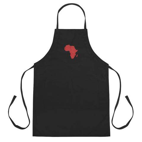 African Map Embroidered Apron