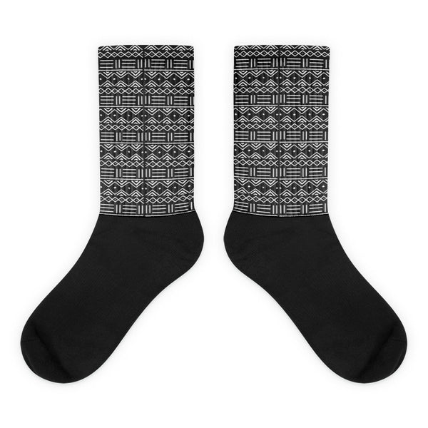 African Mud Cloth Print Socks