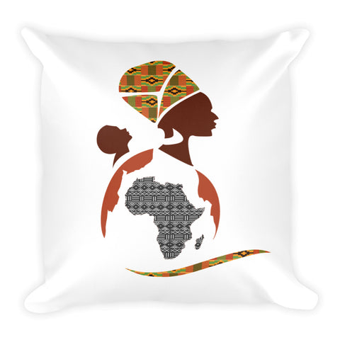 RuvaAfricWear Logo Square Pillow