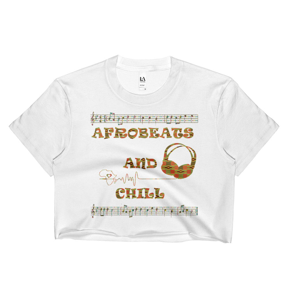 Afrobeats and Chill Ladies Crop Top - Zulu Print