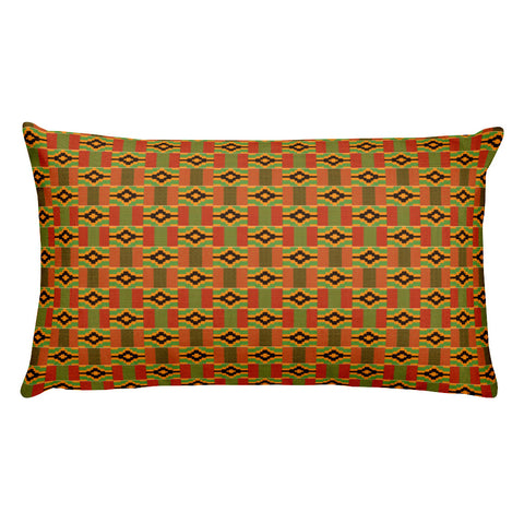 Queen Kente Print Rectangular Pillow