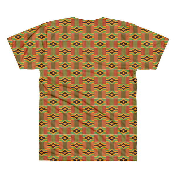 Afrobeats and Chill Kente Printed T-Shirt