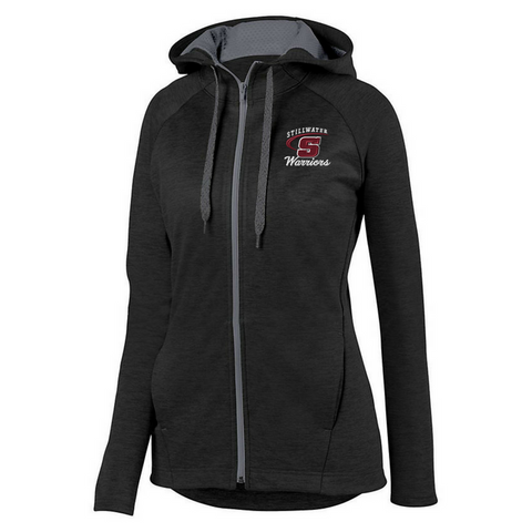 Stillwater Warriors Ladies Full Zip Two-Tone Performance Hoodie- 2 Colors