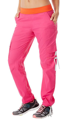 Zumba Fitness Craveworthy Cargo Pants - Back to the Fuchsia