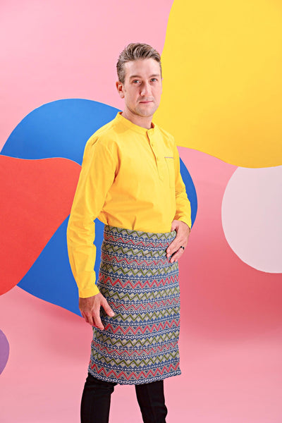 The Pelangi Men Kurta - Yellow