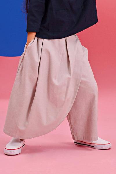 The Pelangi Skirt Pants - Soft Grey