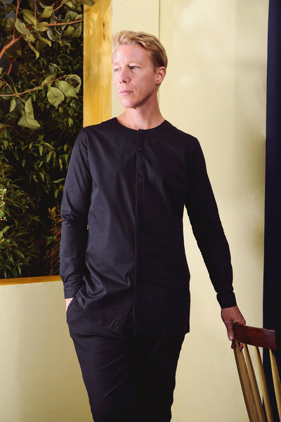 The TENANG Men Minimalist Shirt - Black