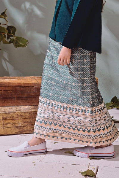 The TENANG Jacquard Skirt - Green