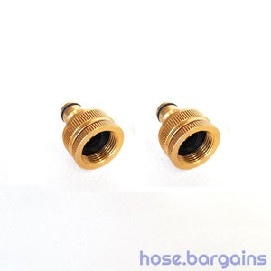"Brass Garden Hose Tap Adaptor 12mm (1/2"")"
