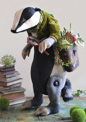 Botany Badger Card By Mister Finch