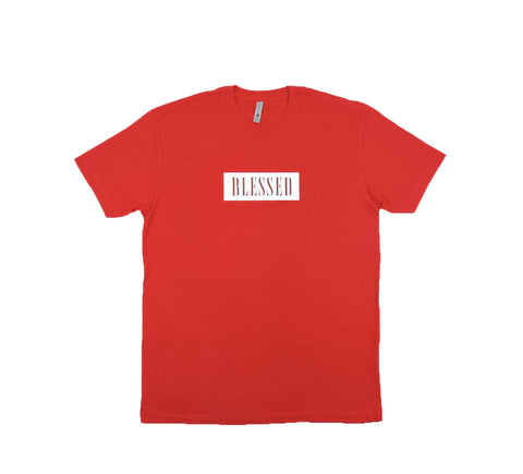 Blessed Tee - Red w/ White