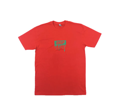Drip Tee - Red w/ Green